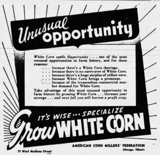 1937 Corn Millers Campain AM 1
